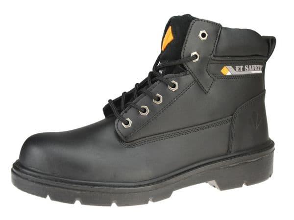 ET Safety - I0006 Lace (SBP) Black Boots